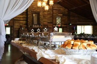 catering at Big Sky Barn pic by Jenny